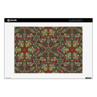 Floral mandala abstract pattern design decals for laptops