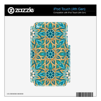 Floral mandala abstract pattern design iPod touch 4G skin