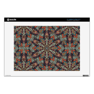 Floral mandala abstract pattern design laptop decals