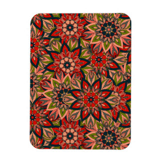 Floral mandala abstract pattern design magnet
