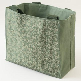 Floral mandala abstract pattern design tote