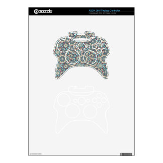 Floral mandala abstract pattern design xbox 360 controller skin