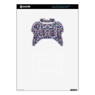 Floral mandala abstract pattern design xbox 360 controller skins
