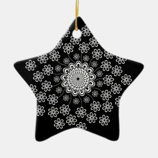 Floral Mandala Ceramic Ornament