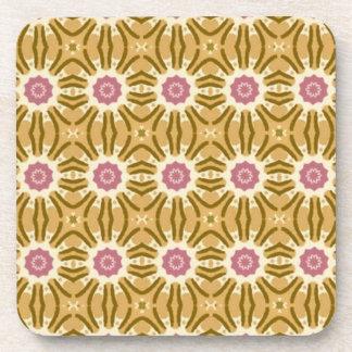 Floral Mandala Cork Coasters