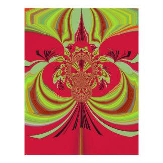 Floral mandala Hakuna Matata red yellow design Letterhead