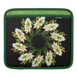 Floral mandala iPad sleeves