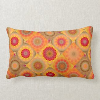 Floral Mandala Patchwork or Quilt Pattern Pillow