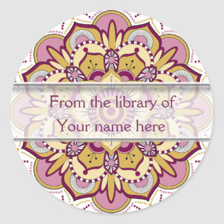 Floral Mandala Personalized Bookplates