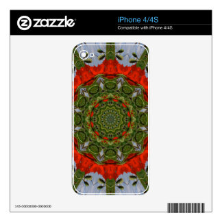 Floral mandala, Poppies Skins For The iPhone 4