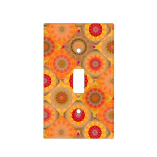 Floral Mandala Quilt Pattern Light Switch Cover