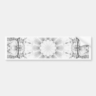 Floral mandala-style, blossoms light gray / grey bumper sticker