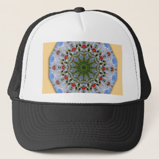 Floral mandala-style, Red Poppies Trucker Hat