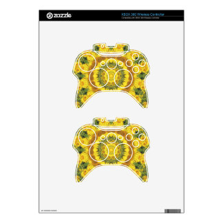 Floral mandala-style, Sunflowers pattern Xbox 360 Controller Skins