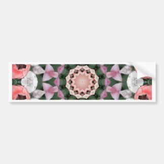 Floral mandala-style, Tulips Bumper Sticker