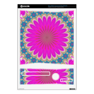Floral mandala xbox 360 s console decal