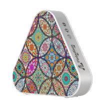 Floral mandalas creative circles art pattern bluetooth speaker