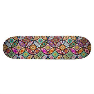 Floral mandalas creative circles art pattern skateboard
