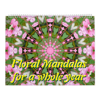 Floral Mandalas for a whole year Calendar