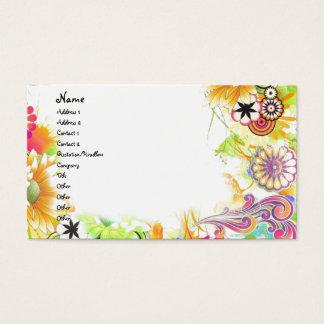 Floral maravilloso tarjeta de negocios