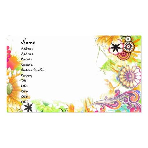 Floral maravilloso tarjetas de visita