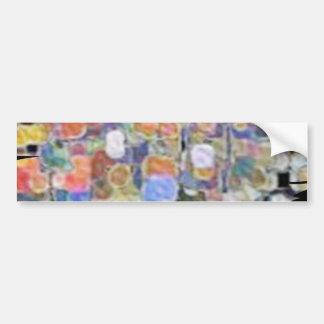 Floral Marbles Marvellous Bumper Sticker