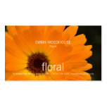 Floral - Marigold Business Card