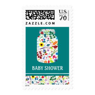 Floral Mason Jar Baby Shower Postage