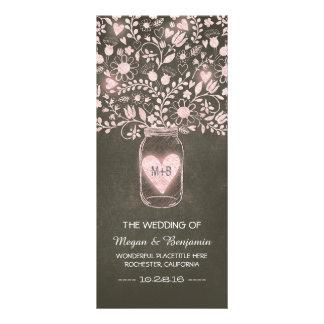 floral mason jar pink elegant wedding programs