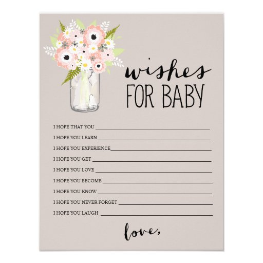 Wishes For Baby Cards, Wishes For Baby Card Templates ...