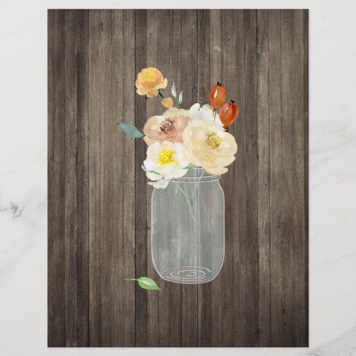 floral mason jar wood scrapbook paper r0e73b8f0ac504e59aa905d3e59697809 tcvc9 704