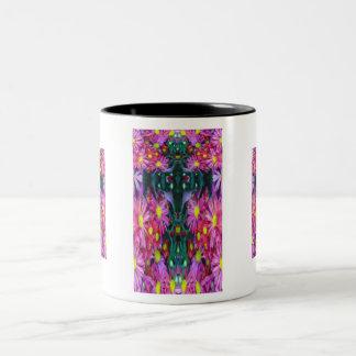 Floral Mass Cross Two-Tone Coffee Mug