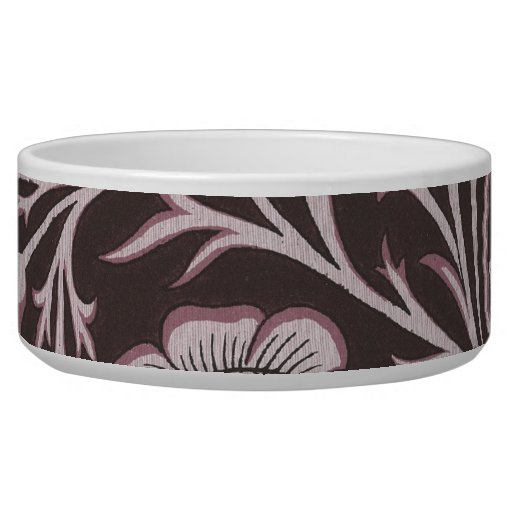 Floral Mauve and Chocolate Bowl