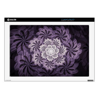 Floral Mauve Purple & White Abstract Laptop Skin