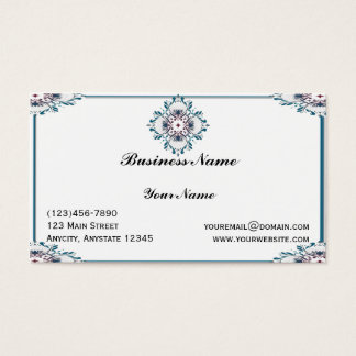 Floral Medallion Business Card