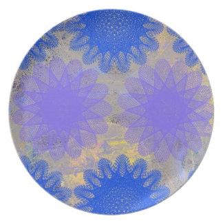 Floral Melamine Dinnerware Party Plate