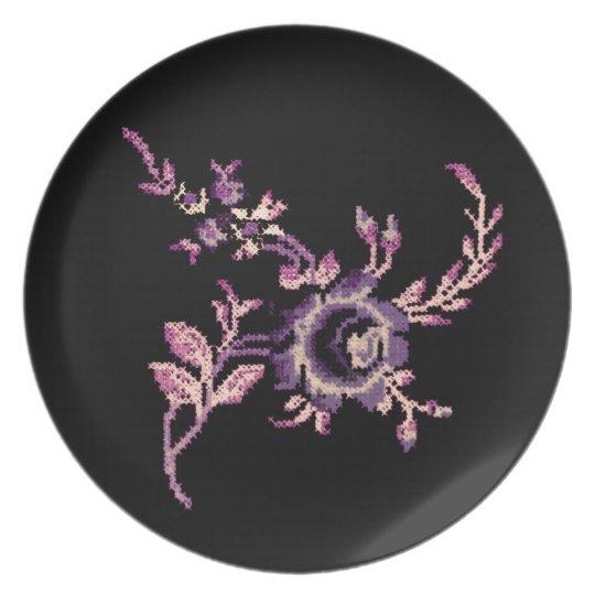 floral melamine plate