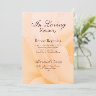 Floral Memorial Service Invitation