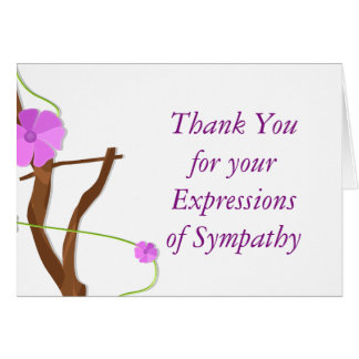 Floral Memorial Thank You for Your Sympathy Card