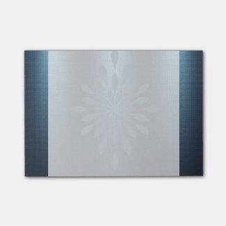 Floral metálico de plata de la mirada de los nota post-it®