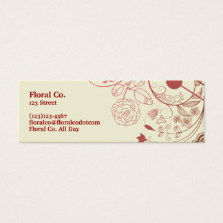 Floral Mini Business Card