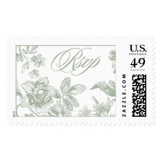 Floral Mint Rsvp | Atelier Isabey Stamps