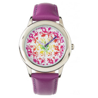 Floral mix wrist watches