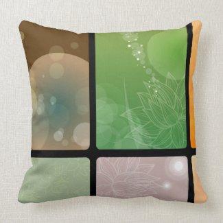 Floral modern pillow