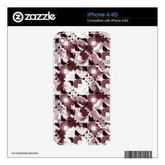 Floral moderno adornado calcomanía para el iPhone 4