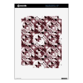 Floral moderno adornado iPad 2 calcomanías
