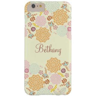 Floral moderno de lujo femenino personalizado funda para iPhone 6 plus barely there