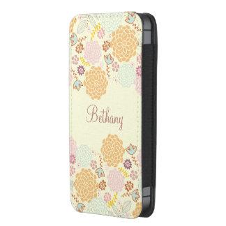 Floral moderno de lujo femenino personalizado funda para iPhone 5