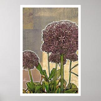 Floral moderno: Flor del allium Impresiones