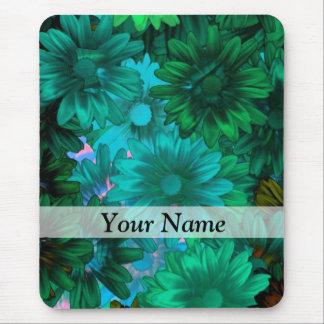 Floral moderno verde tapete de ratón